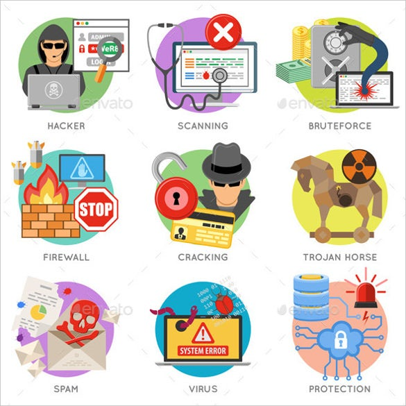 internet security firewall icons download
