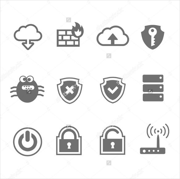 network and security firewall icon