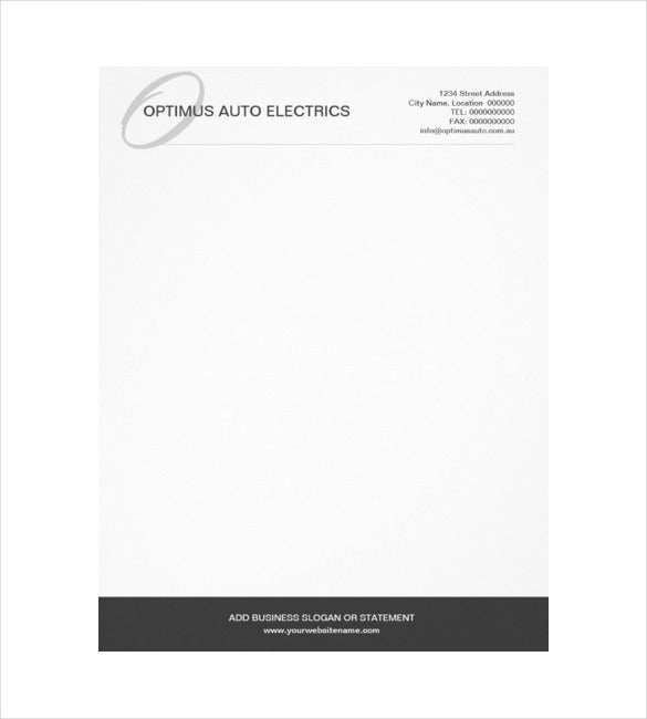 Elegant Professional Corporate Letterhead Template 000890: 20+ Custom Letterhead Templates