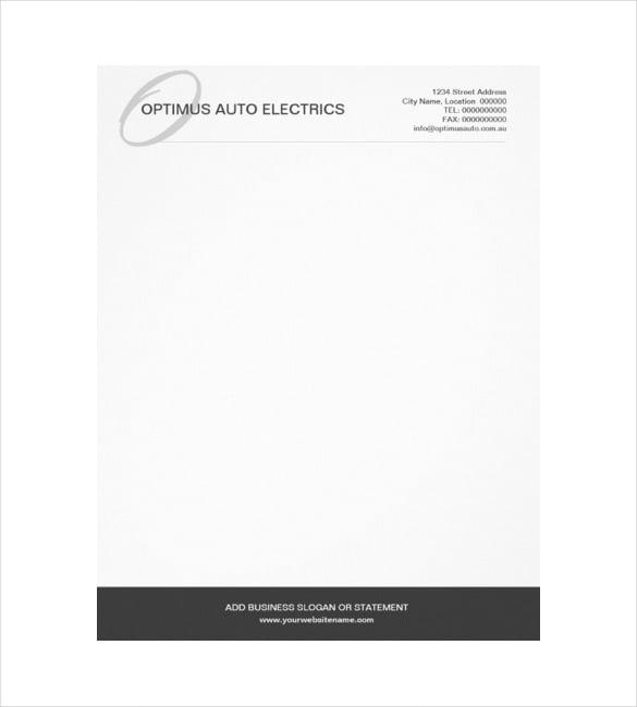custom letterhead template