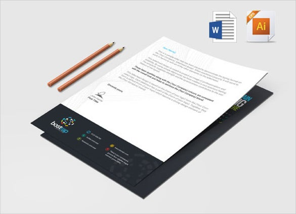 sample format custom letterhead template