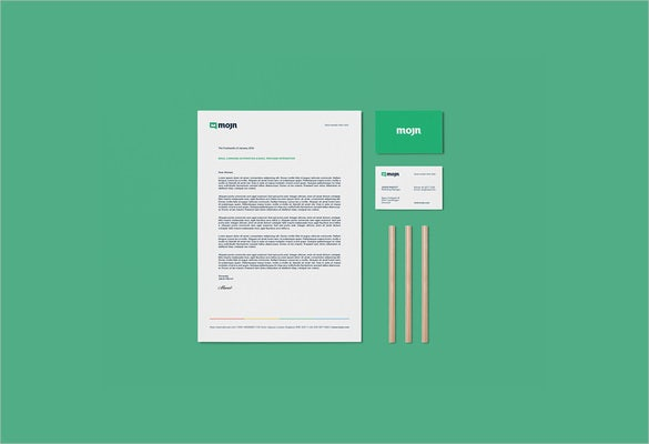 custom letterhead sample example template