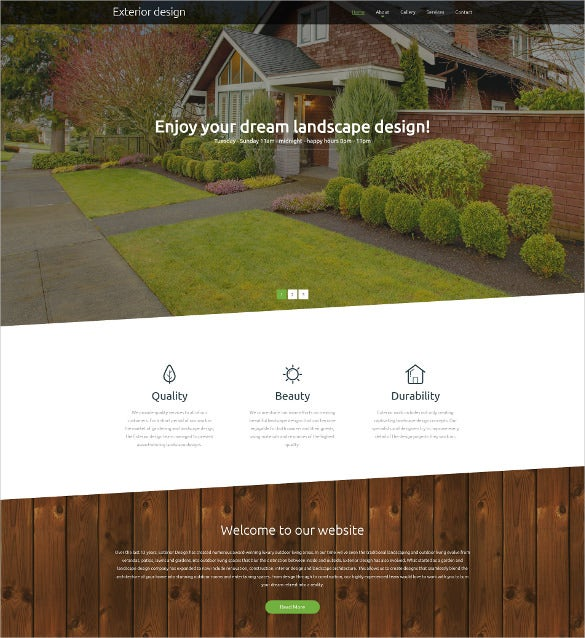 exterior design responsive website blog template