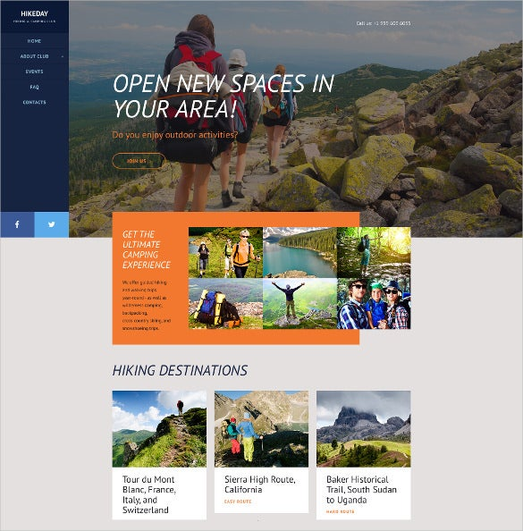 hikeday website blog template