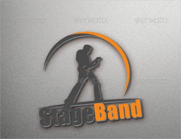fully editable band logo template