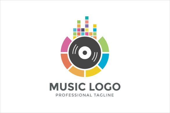 multimedia band logo template
