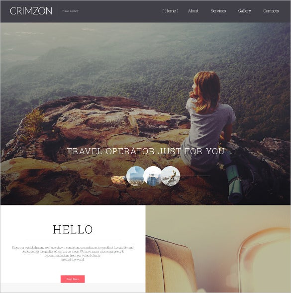 crimzon website html5 template