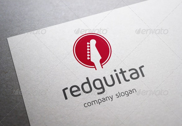 red guitar band logo