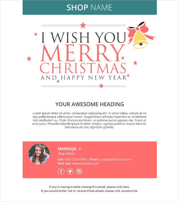 Holiday Email Template   Free Jpg Psd Format Download  Free