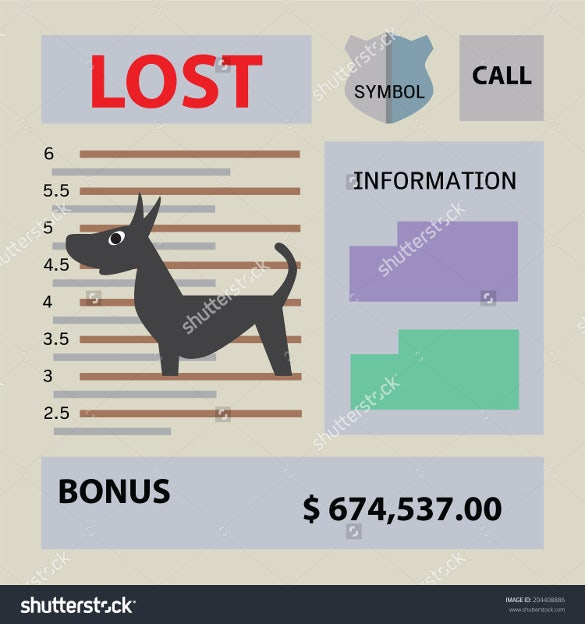 lost pet flyer template with bonus information