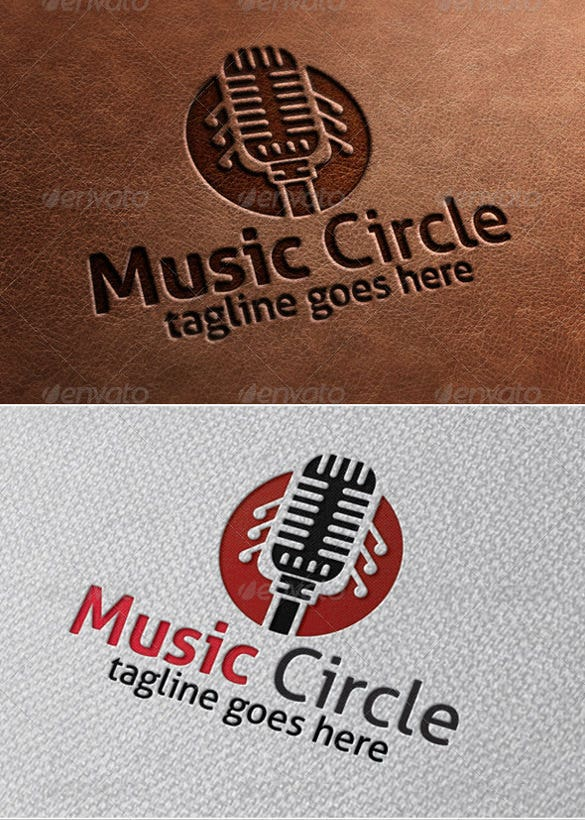 music circle band logo