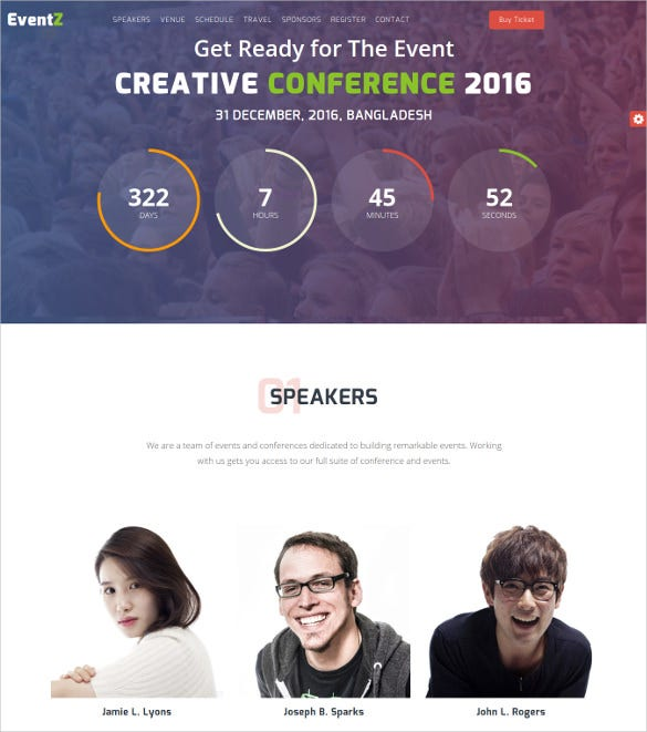 eventz – conference event html5 template1