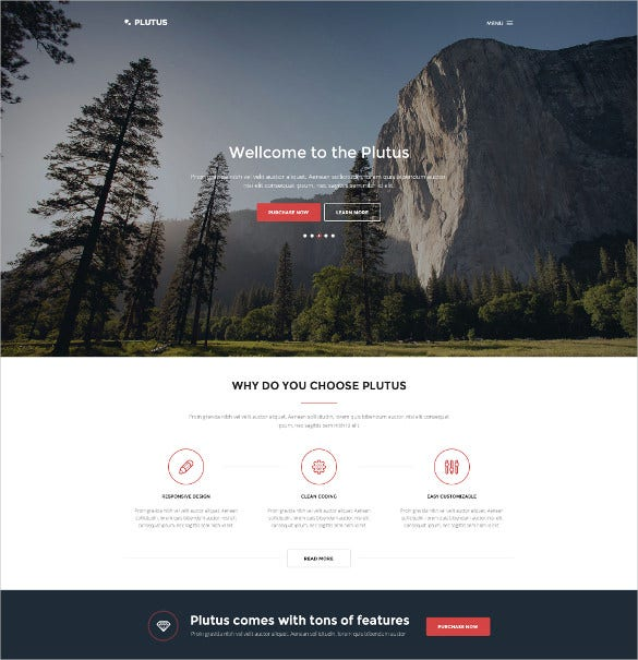plutus all in one html5 landing page template