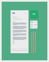 Corporate Letterhead Design Example