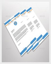 Blue and Letterhead Template Design Custom Example