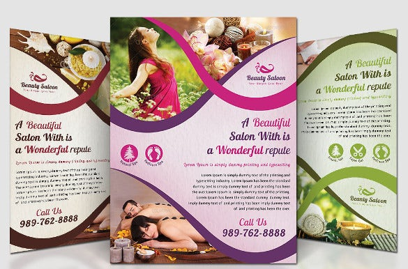 professional beauty saloon flyer design template download