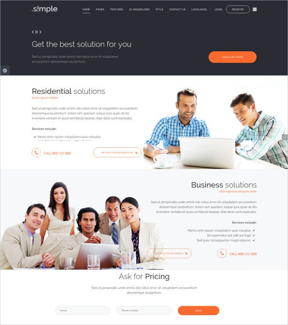 jm simple multipurpose business joomla template