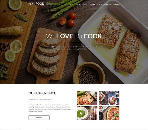 jm best food bar restaurant food joomla template