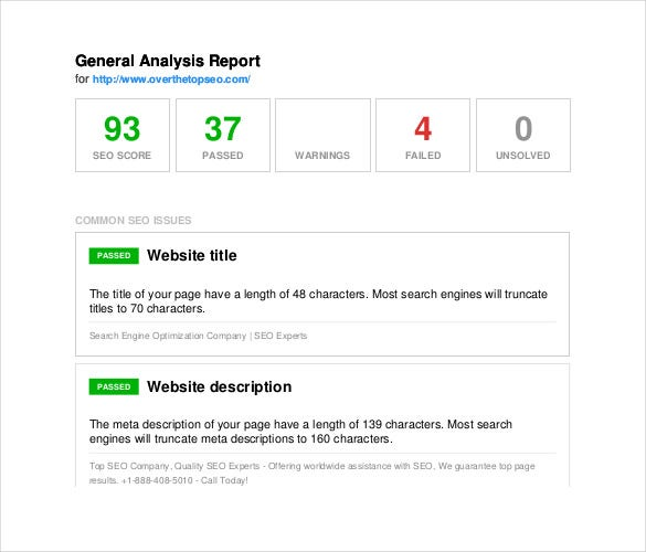 10+ Seo Report Templates - Free Sample, Example, Format Download