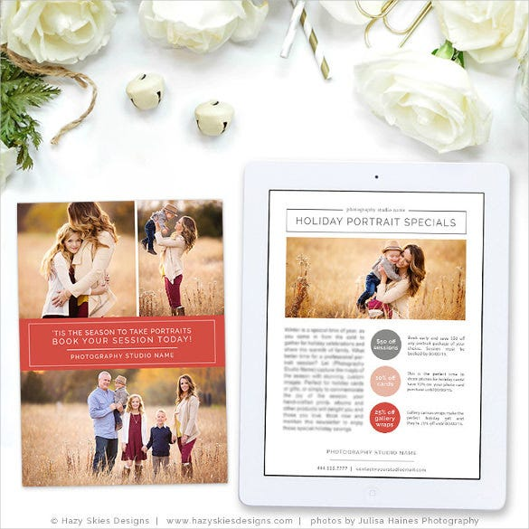 holiday newsletter template for photographers