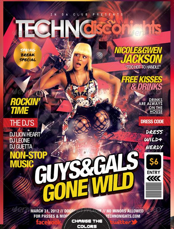 creative magazine style flyers