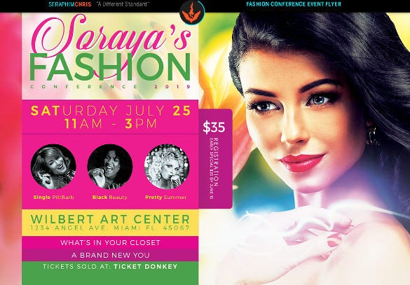 amazing fasion flyer design template