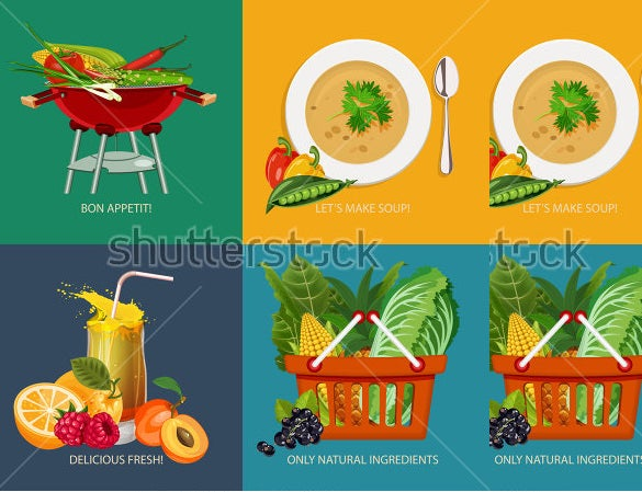 best design template for food icons