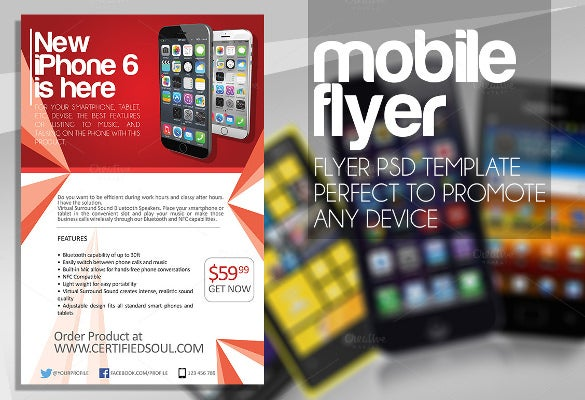 modern and striking mobile flyer design
