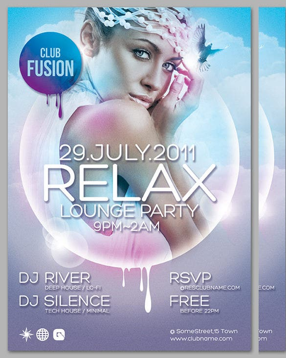 happy relaxe flyer design