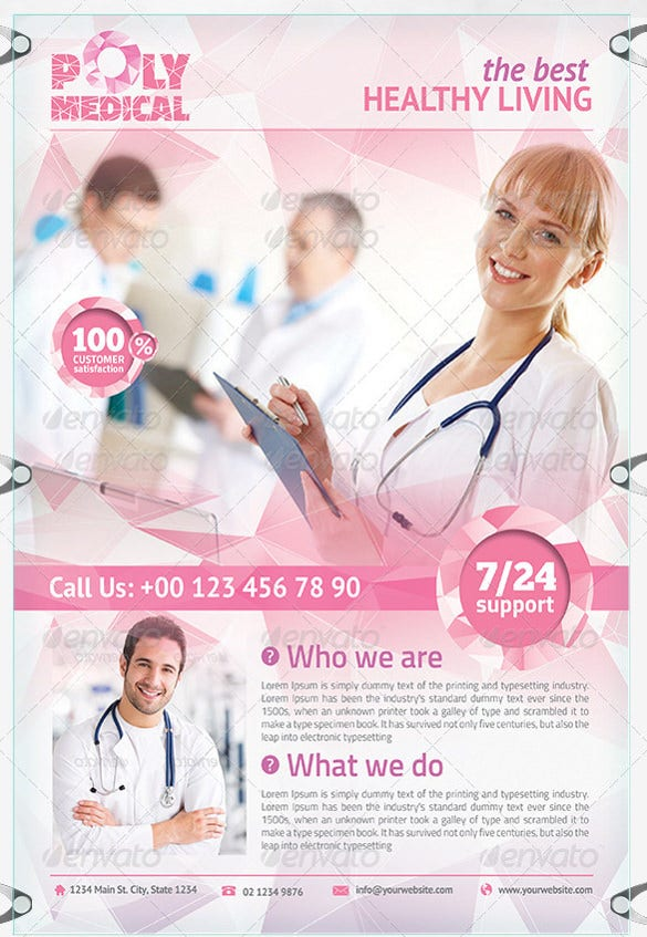 best health care design flyer template
