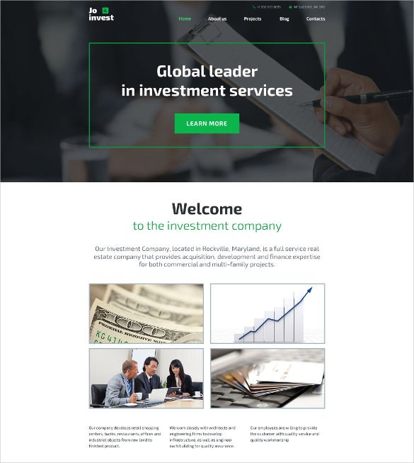 jo invest wordpress theme