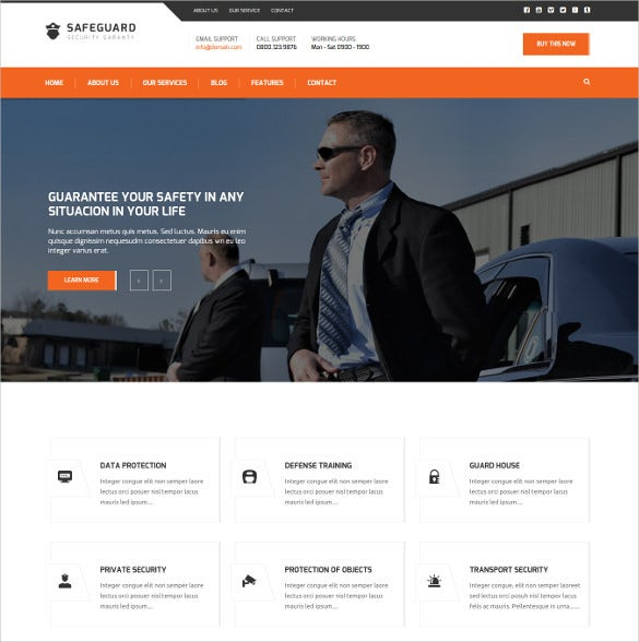 safeguard security services wordpress theme