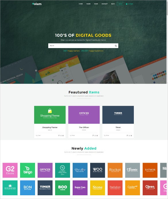 olam wordpress easy digital downloads theme