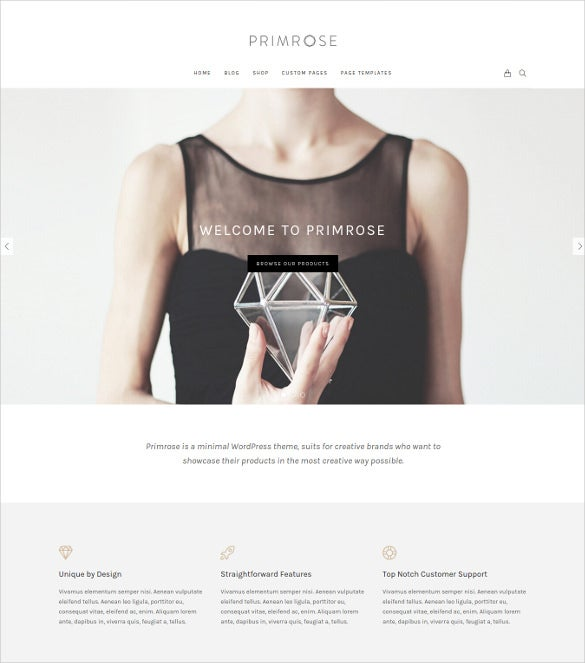 primrose a minimal woocommerce wordpress theme