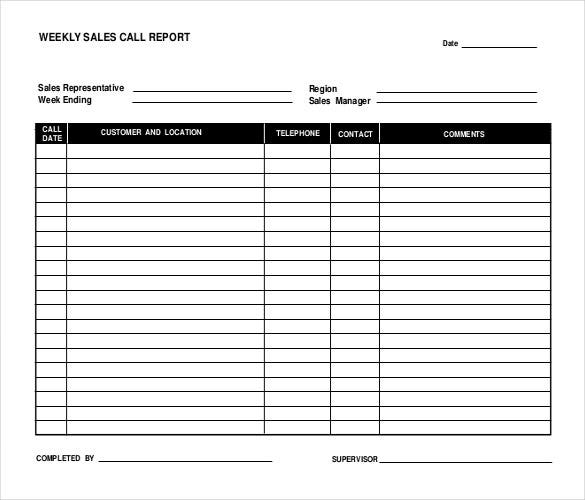 Sales report templates 10 free sample example format for Sales call cycle template