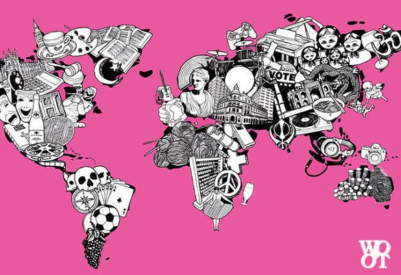 25 coolest and creative world map designs for all art lovers free world map illustration free download gumiabroncs Choice Image