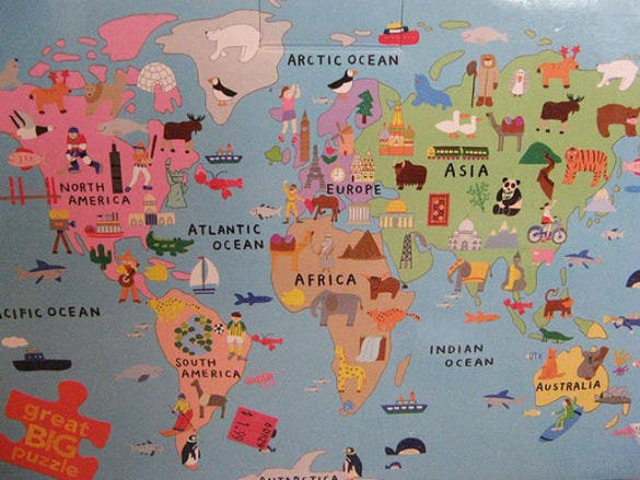 world map puzzle download