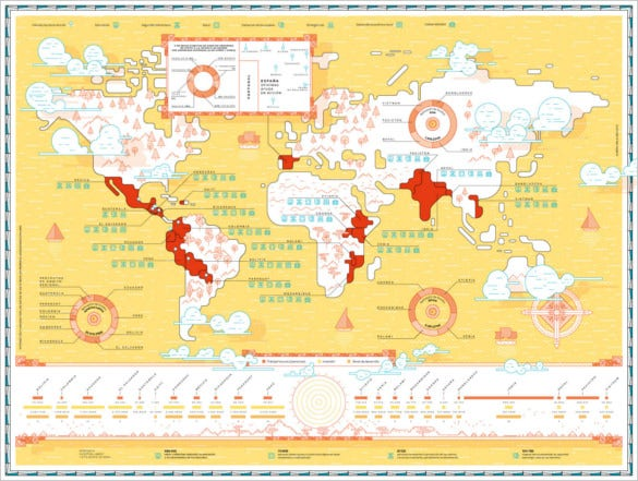 ayuda en acción annual report world map