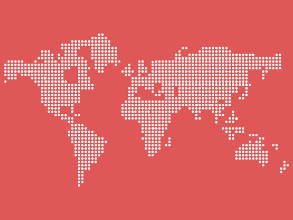 vector dotted world map free psd