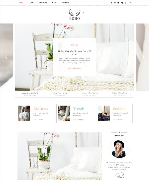 bohopeople personal wordpress blog theme1