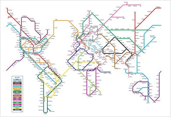 world map metro style download