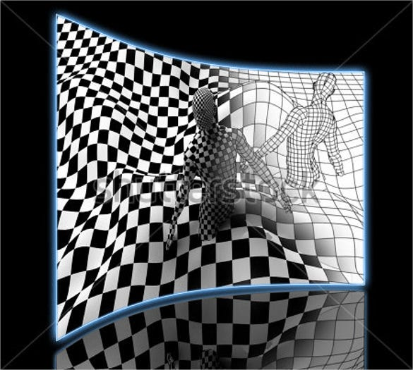 black white cool 3d drawing illusion template