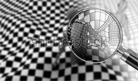 cool 3d black end white checkered people drawing template