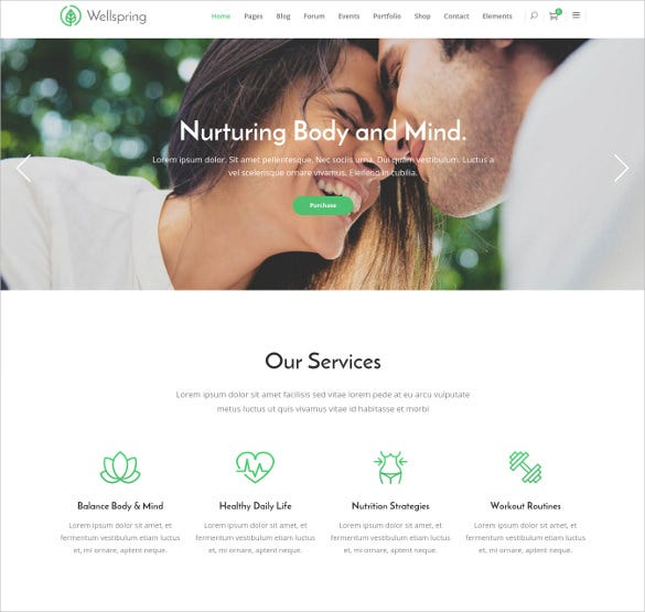 wellspring a health lifestyle wellness wordpress theme