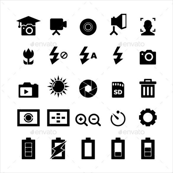 set of photography icons download
