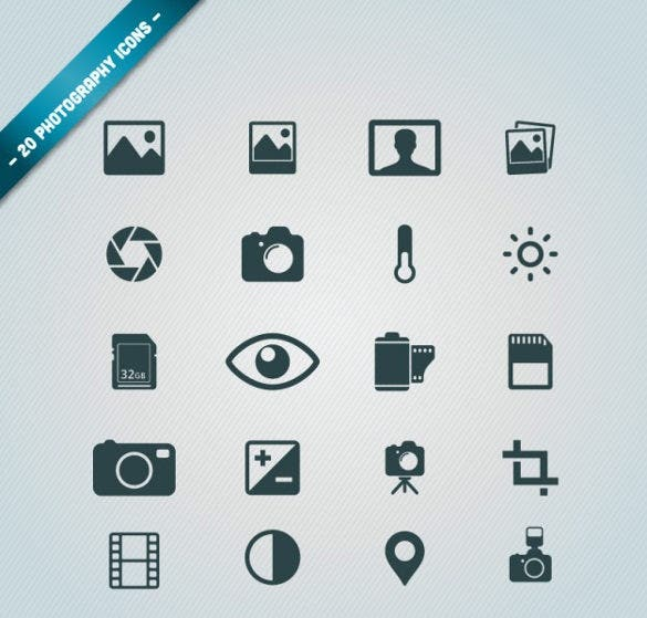 free vector photography icons