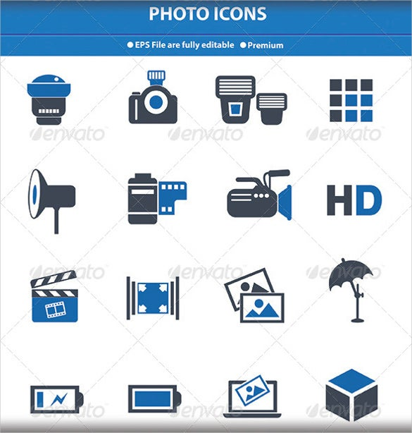 photography icons vector version