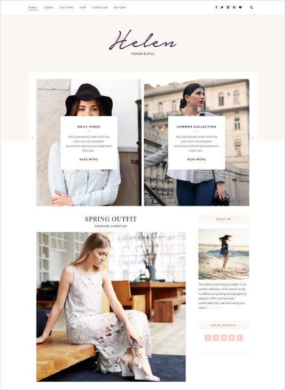 helen responsive wordpress theme