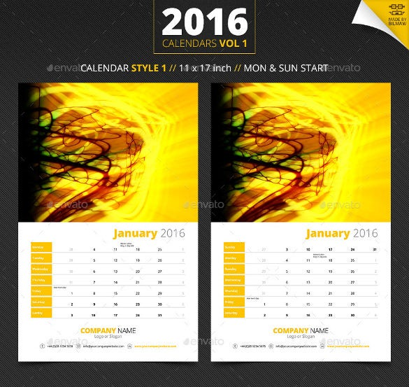 Corporate Calendar Design 2016 : Holiday calendar templates free psd vector eps png