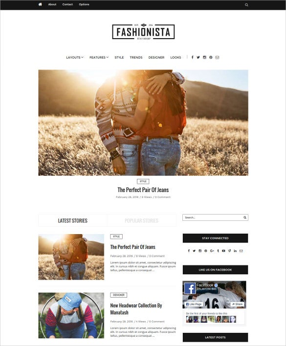 fashionista lifestyle wordpress blog theme